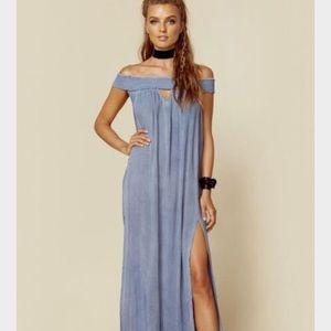 Boho Blue Life Charms Maxi Dress